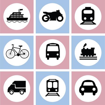 전송 icons.transportation .logistics.logistic icon.vector 그림입니다. 일러스트