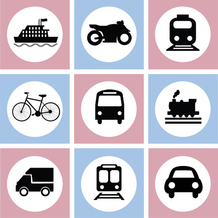 Transport icons.transportation .logistics.logistic icon.vector illustration. Çizim