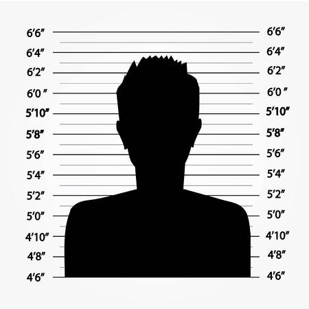 custody: Police lineup or mugshot background,mugshot vector.vector illustration