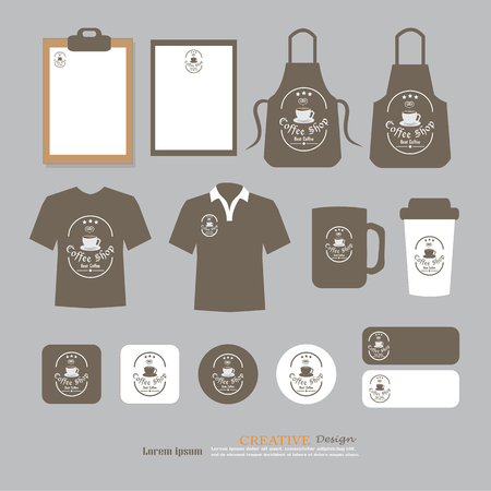 t bar: Vector restaurant cafe set flyer, menu, package, t-shirt, uniform design.layout set of corporate identity template. Illustration