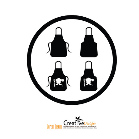 barbecue stove: apron icon.apron.Kitchen apron. Vector illustration. Illustration