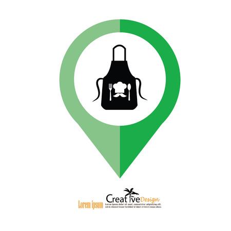 apron icon.apron.Kitchen apron. Vector illustration.