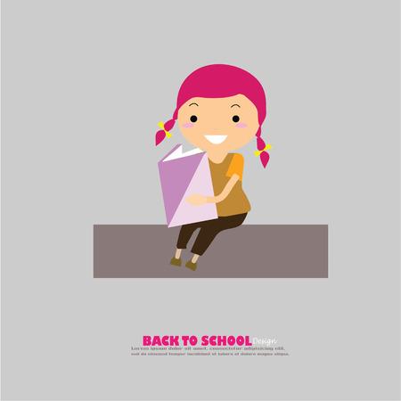 pupils: pupils boys and girls.boys and girls in school.vector illustration. Illustration