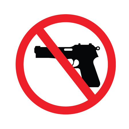 gun shot: no gun sign.vector illustration.
