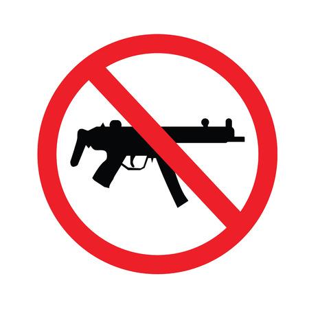 prohibido: Muestra prohibida ning�n arma. ilustraci�n vectorial. Vectores