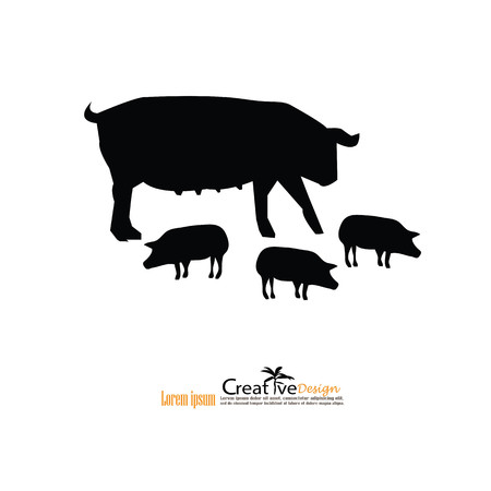 omnivorous: pig.pig icon.vector illustration.