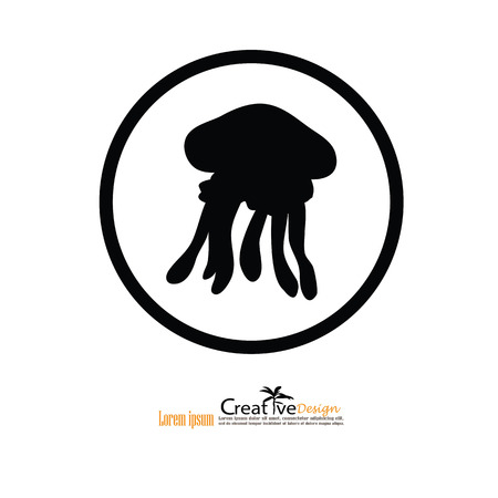 stingers: Jellyfish. Jellyfish icon.vector illustration