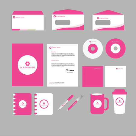 documentation: stationery template design. Documentation for business.vector illustration.