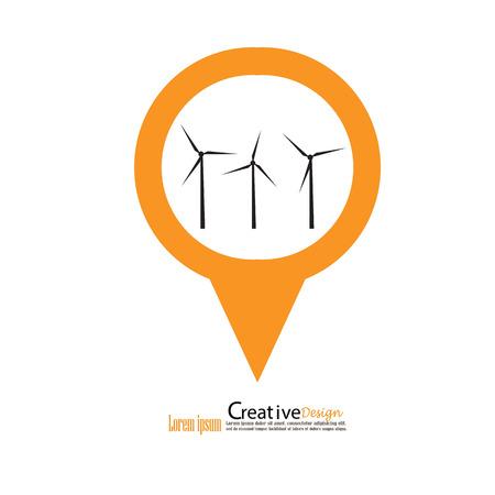 windfarm: windturbine.windturbine icon.windmills for electric power production.