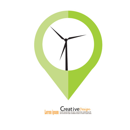 electric power: windturbine.windturbine icon.windmills for electric power production.