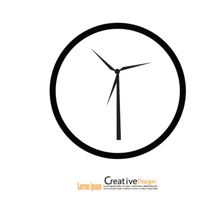 power production: windturbine.windturbine icon.windmills for electric power production.