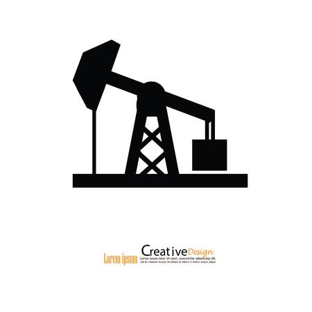 oil rig icon. vector illustration. Vector Illustration