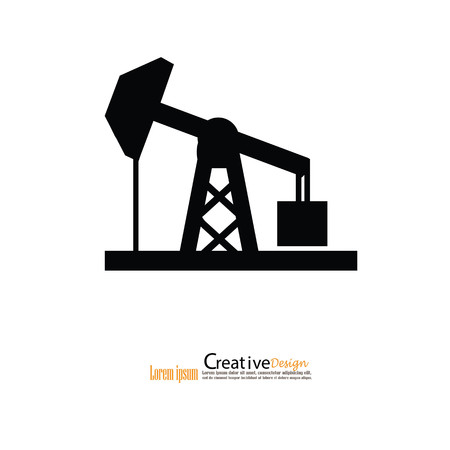 oil rig icon. vector illustration. Illustration