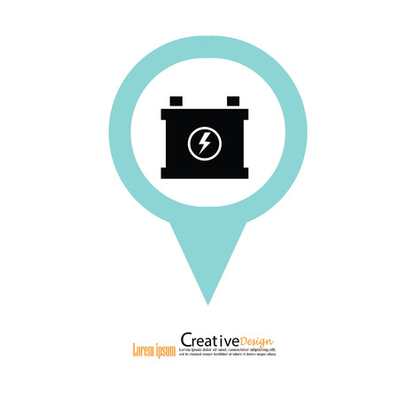 car battery icon.battery icon.vector illustration.