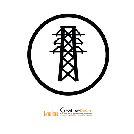 telephone pole: Electricity icon.electricity pole.vector illustration.