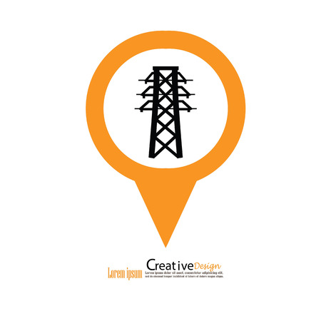 telegraph: Electricity icon.electricity pole.vector illustration.