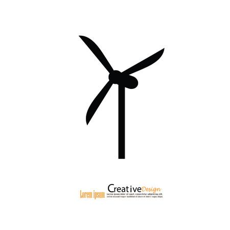 energia electrica: windturbine.windturbine icon.windmills para la producción de energía eléctrica. Foto de archivo