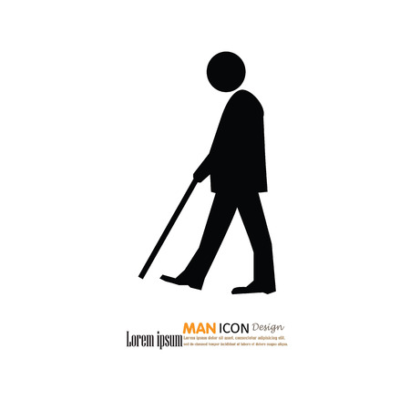 age old: Elder icon.old man.vector illustration. Illustration