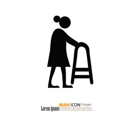 elder: Elder icon.old man.vector illustration. Illustration