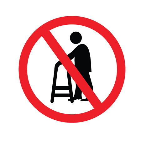 senile: no elder entrance.old man.vector illustration. Illustration
