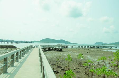 koh: bridge around Koh Samaesarn port.Thailand