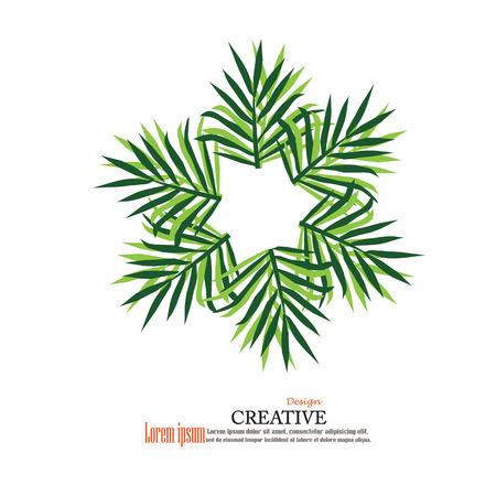 reversed: Leaf Icon. Vector illustrations.