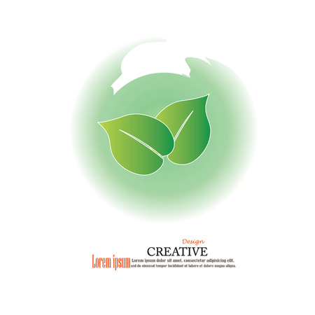 vegetate: leaves design elements.tree vector.eco concept.vector illustration.