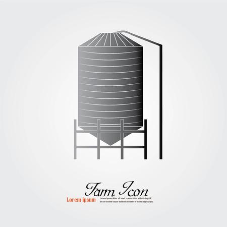 silos: grain silo.silo.vector illustration. Illustration