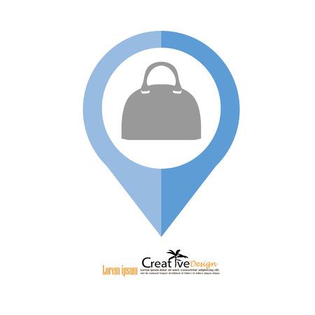 valise: hand bag icon.vector illustratiion. Illustration