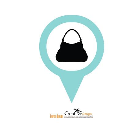 hand bag icon.vector illustratiion. Illustration