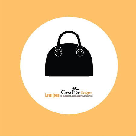 handbag model: hand bag icon.vector illustratiion. Illustration
