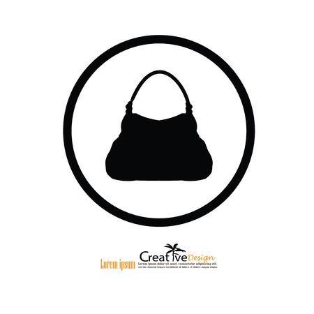 hand bag: hand bag icon.vector illustratiion. Illustration
