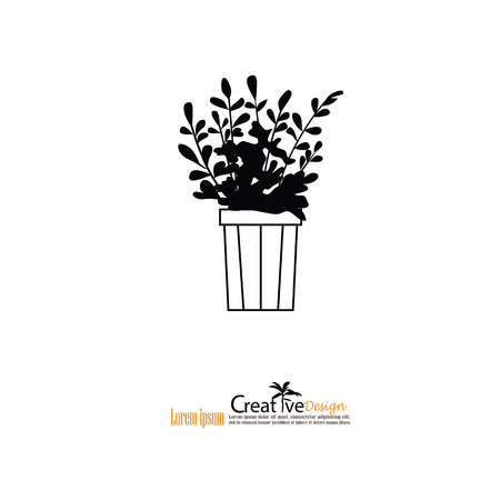 Illustration of Home Plants.vector illustration.