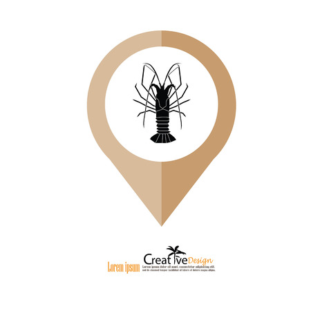 pincers: Lobster icon illustration.