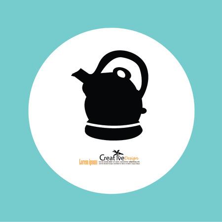 electric tea kettle: Kettle Icon.vector illustration.