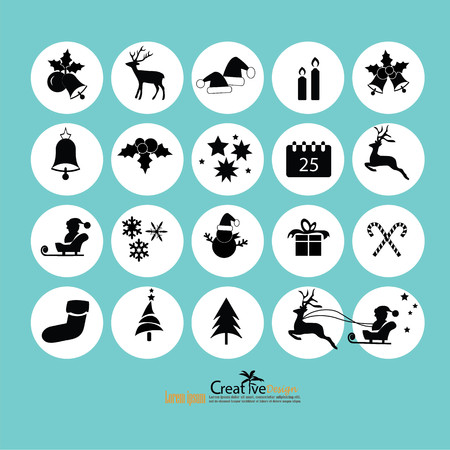 Christmas Icon.vector illustration. Illustration