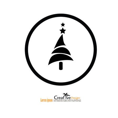 application recycle: Pine tree.pine tree icon.vector  illustration. Illustration