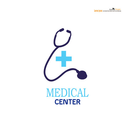 Medical logo, medical center logo, health logo, doctor logo, medicine logo, medical icon. Logo design template for clinic, hospital, medical center, doctor.vector illustration. Illustration