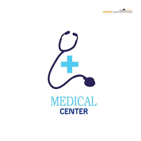 Medisch embleem, medisch centrum logo, gezondheid logo, arts logo, geneeskunde logo, medische icoon. Ontwerp sjabloon voor kliniek, het ziekenhuis, medisch centrum, doctor.vector illustratie.