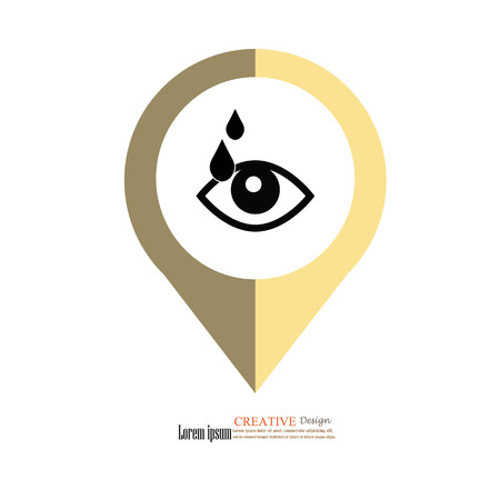 eye drop icon.eyes.medical concept.vector illustration. Illustration