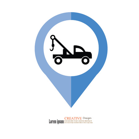 iconillustration: truck crane icon.illustration.