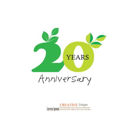 Template Logo 20th Anniversary 20 Years Anniversary Logo