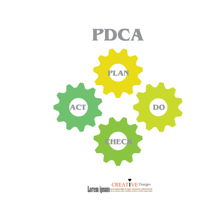 pdca: PDCA diagram.PDCA concept.vector illustration.