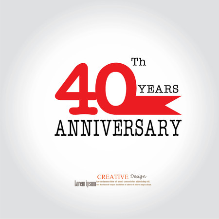 Template logo 40th anniversary 40 years anniversary logo template logo 40th anniversary 40 years anniversary logo celebration 40 years40 birthday altavistaventures Image collections