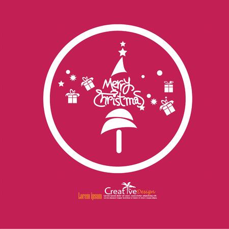 santaclause: christmas design on red backgroun.christmas concept.vector illustration.eps10.