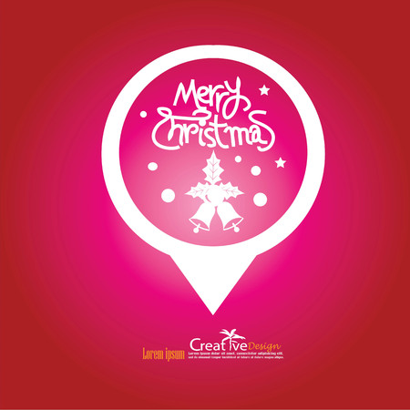 merry chrismas: christmas design on red backgroun.christmas concept.vector illustration.eps10.