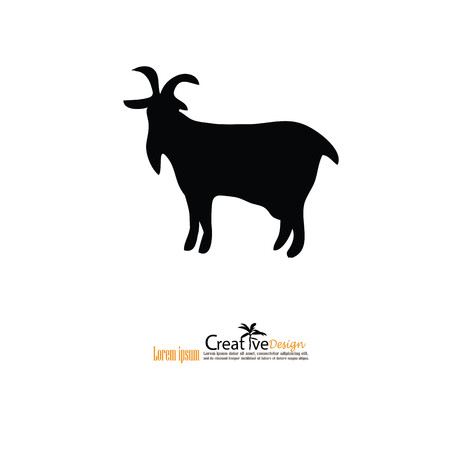 appear: goat.goat icon with map pointer.vector illustration.