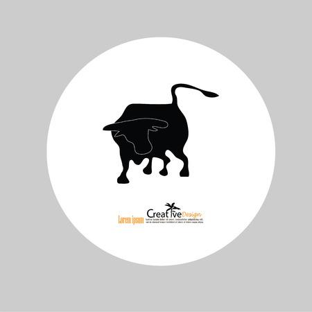 bull icon.vector of bull design. Wild Animals.Vector illustration.