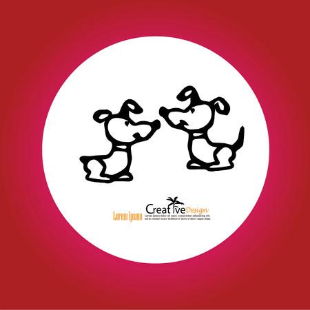 mongrel: Dog icon.vector illustration.