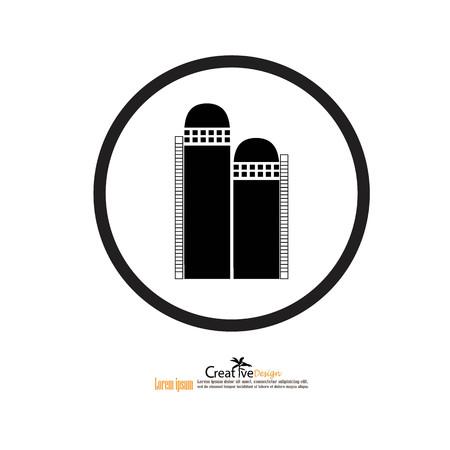 grain: grain silo.silo.vector illustration. Illustration